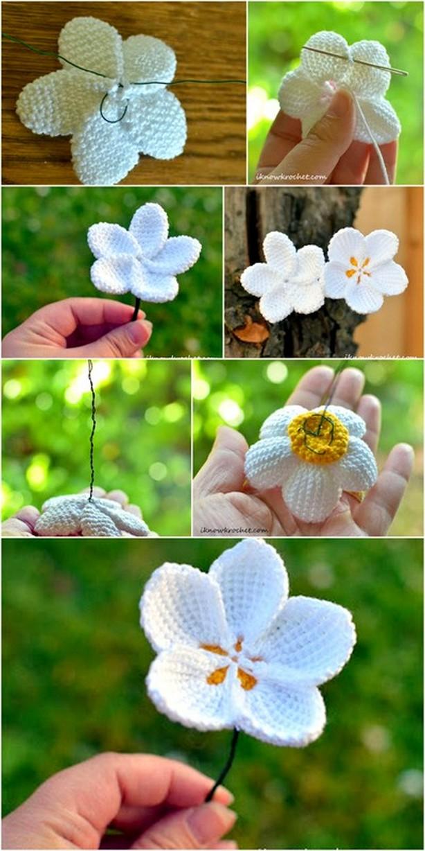 Crochet Snow Drop Flower Technique